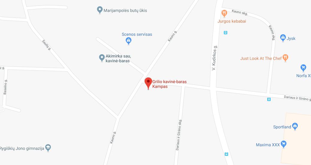 """Grilio kavinė – baras """"KAMPAS"""""""